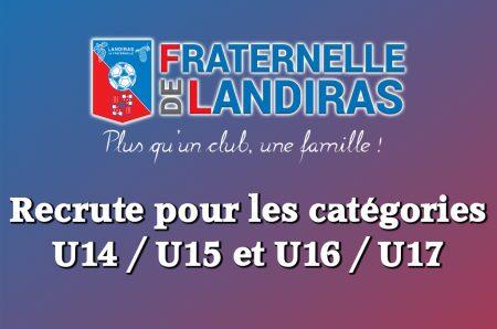 Fraternelle_RecruteU15-U17